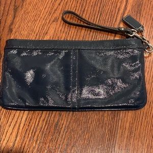 Dark navy coach wristlet